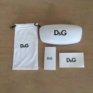 Dolce and Gabbana White Sunglasses Case & DustBag